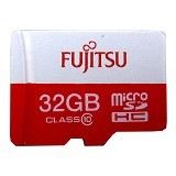 FUJITSU MicroSD 32GB with SD Adapter - Micro Secure Digital / Micro SD Card