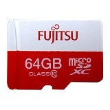 FUJITSU MicroSD 64GB with SD Adapter - Micro Secure Digital / Micro SD Card