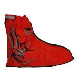 FUNCOVER Cover Shoes Jas Sepatu Tribal Design Size XL - Red (Merchant) - Jas Hujan