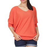GAIA CLOTHE LINE Blouse Plaint Knet [100Orange] - Orange - Blouse dan Tunik Wanita