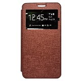GALENO Flip Cover Andromax E2 - Brown (Merchant) - Casing Handphone / Case
