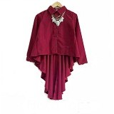 GALLERY FANNY SHOP Frisca Top - Maroon - Blouse dan Tunik Wanita