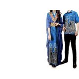 GALLERY FANNY SHOP Kemeja Couple 389 Rama 0412 - Blue - Kemeja Lengan Pendek Pria