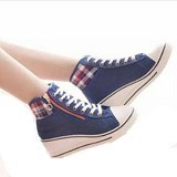 GALLERY FANNY SHOP Sneakers Size 40 [GWS-848] - Navy - Sneakers Wanita