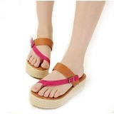 GALLERY FANNY SHOP Wedges Size 38 [GWS-877] - Pink - Wedges Wanita