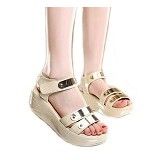 GALLERY FANNY SHOP GWS Size 41 [901] - Cream - Wedges Wanita