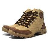 GALLERY FANNY SHOP Sepatu Pria Size 42 [HM-010] - Cream Brown - Casual Boots Pria