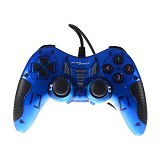 GAMESHOCK Gamepad Single Getar [BF-713] - Blue (Merchant) - Gaming Pad / Joypad