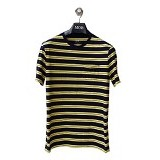 GAP Pocket Tee Double Stripes Size L - Navy Yellow (Merchant) - Kaos Pria