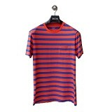 GAP Pocket Tee Double Stripes Size M - Orange Blue(Merchant) - Kaos Pria