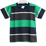 BABY WAREHOUSE GAP Tshirt Stripes Size L - Green Dark Blue Gray