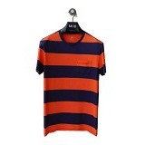 GAP Vintage Two Tone Pocket Tee Size XL - Navy Orange (Merchant) - Kaos Pria