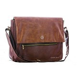 GAREU&CO Casual Sling Bag Laptop Series Synthetic Emboss [G 4213] - Brown - Notebook Shoulder / Sling Bag