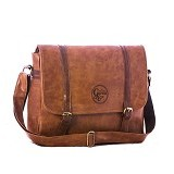 GAREU&CO Sling Bag Laptop Series Synthetic Emboss [G 4210] - Brown - Notebook Shoulder / Sling Bag