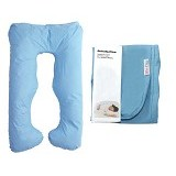 GARYMAN Maternity Pillow U Dengan Sarung Bantal [BZ-979 Blue] - Blue - Feeding, Boppy Pillows Covers