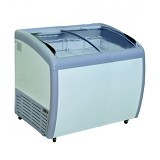 GEA Sliding Curve Glass Freezer [SD-260BY] - Chest Freezer Sliding Glass