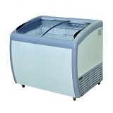 GEA Sliding Curve Glass Freezer [SD-360BY] - Chest Freezer Sliding Glass