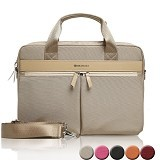 GEARMAX Canvas Nylon Oxford Business Laptop Sleeve Case Bag 13.3 - 15 Inch [GM4005] - Gold (Merchant) - Notebook Sleeve