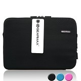 GEARMAX Classic Lycra Fabric Laptop Sleeve Case Bag 15.4 Inch [GM1701] - Black - Notebook Sleeve
