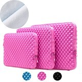 GEARMAX Diamond Lycra Fabric Bag for Laptop 11.6 - 12 Inch [GM1703] - Pink (Merchant) - Notebook Sleeve