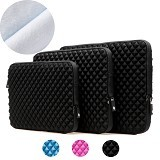 GEARMAX Diamond Lycra Fabric Bag for Laptop 13.3 Inch [GM1703] - Black (Merchant) - Notebook Sleeve
