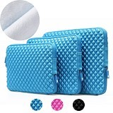 GEARMAX Diamond Lycra Fabric Bag for Laptop 15.4 Inch [GM1703] - Blue (Merchant) - Notebook Sleeve
