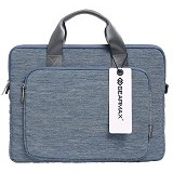 GEARMAX Snowflakes Fabrics Nylon Oxford Laptop Sleeve Case Bag 15.4 Inch [GM39061] - Blue (Merchant) - Notebook Shoulder / Sling Bag