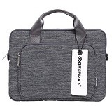 GEARMAX Snowflakes Fabrics Nylon Oxford Laptop Sleeve Case Bag 15.4 Inch [GM39061] - Light Grey (Merchant) - Notebook Shoulder / Sling Bag
