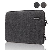 GEARMAX Woolen Herringbone Laptop Sleeve Case Bag 11.6 - 12 Inch [GM1705] - Black (Merchant) - Notebook Sleeve