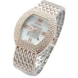 GENEVA Combi Silver Rose Fashion - Gold Color (Merchant) - Jam Tangan Wanita Fashion