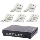 GENEX PBX D308 + TS505 (5 unit) - PABX Analog