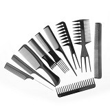GFGADGET 10 Sets of Comb Cosmetic Comb - Black - Sisir Rambut