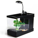 GFGADGET Aquarium Mini USB [Lileng 918] - Black (Merchant) - Akuarium & Wadah Ikan