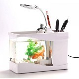 GFGADGET Aquarium Mini USB [Lileng 918] - White (Merchant) - Akuarium & Wadah Ikan