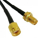 GHZ RP-SMA Male to Female Cable RG 174 Antenna Extension Cable 3m - Hitam - Network Antenna