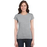 GILDAN Ladies T-Shirt 76000L Premium Cotton Size L - RS Sport Grey (V) - Kaos Wanita