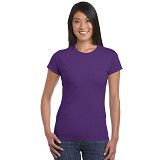 GILDAN Ladies T-Shirt 76000L Premium Cotton Size S - Purple (V) - Kaos Wanita