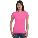 GILDAN Ladies T-Shirt 76000L Premium Cotton Size XL - Heliconia (V) - Kaos Wanita