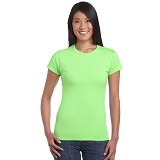 GILDAN Ladies T-Shirt 76000L Premium Cotton Size XL - Lime (V) - Kaos Wanita