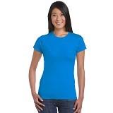 GILDAN Ladies T-Shirt 76000L Premium Cotton Size XL - Sapphire (V) - Kaos Wanita
