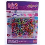 GIRLIE GIRLZ Solid Rubber Loom Band and Clip Refill Pack [TM 3212] - Craft