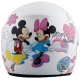 GM Evolution Mickey & Minnie #1 Size M - White - Helm Motor Half Face
