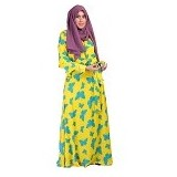GOLDEECLOTH Butterfly Skirt - Yellow - Gamis Wanita