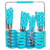 GOLDEN Cutlery Set 24 Pcs - Blue (Merchant) - Peralatan Makan Set