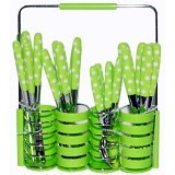 GOLDEN Cutlery Set 24 Pcs - Green (Merchant) - Peralatan Makan Set