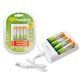 GP BATTERIES Baterai AA Rechargeable 2700mAh + Charger