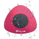 GPLUS Portable Waterproof Bluetooth Shower Speaker - Red (Merchant) - Speaker Bluetooth & Wireless