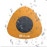 GPLUS Portable Waterproof Bluetooth Shower Speaker - Yellow (Merchant) - Speaker Bluetooth & Wireless