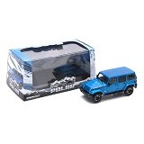 GREENLIGHT Diecast Jeep Wrangler 2014 Unlimited Polar Edition - Blue (Merchant) - Die Cast