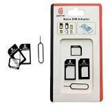 GRIFFIN 3in1 Nano Micro SIM Card Adapter - Black (Merchant) - Kartu Perdana / Paket Layanan Operator